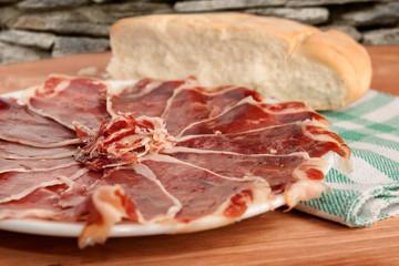 plate of ham
