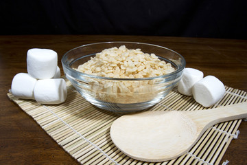 Puffed Rice Cereal and Marshmallows