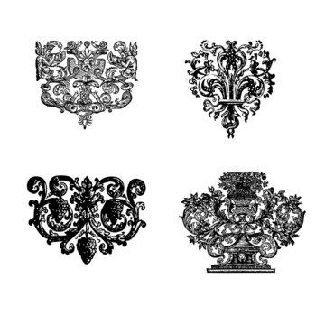 Arabesques et motifs floraux anciens