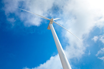 Modern Wind Turbine against Sky