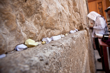 Man praying at the Wailing Wall, Jerusalem
