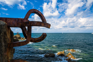 Sculpture (Comb Of The Wind by Chillida) - San Sebastian