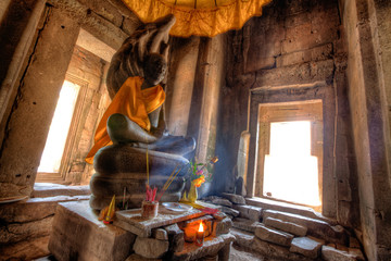 Ancient Buddhist Altar - Angkor Wat Complex, Cambodia
