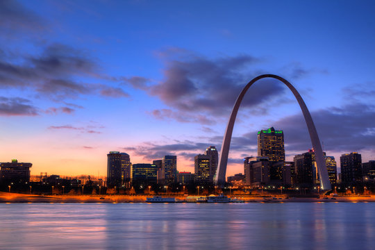 View of the Gateway Arch - St Louis, Missouri
