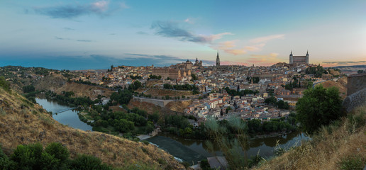 Panorama of Toledo and the Rio Tajo, Spain