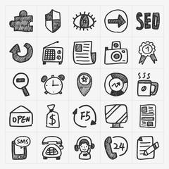 doodle web icons