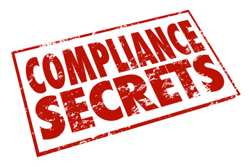 Wall Mural - Compliance Secrets Red Stamp Advice Tips Information Help