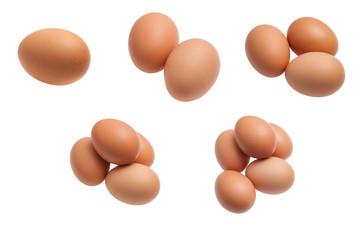 Egg isolate set isolated on white baclground