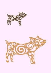 Little pig ornate