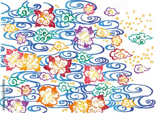 紅型 沖縄 手描きイラストfotoliacom の ストック画像とロイヤリティ