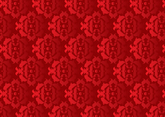 Retro decorative pattern wallpaper