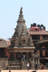 Die Tempelanlage von Bhaktapur Nepal