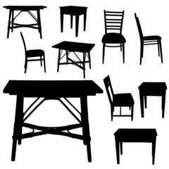 Vector silhouette of furniture.