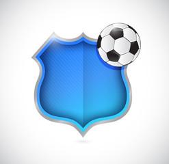 soccer ball team shield illustration design