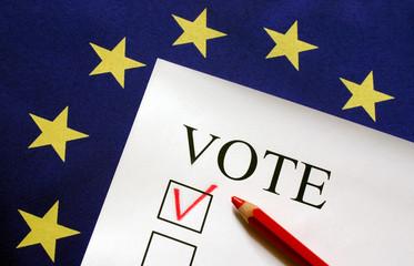 Europe, flag, vote