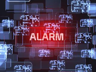Alarm screen concept - fototapety na wymiar