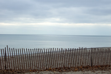 Picket fence on the beach