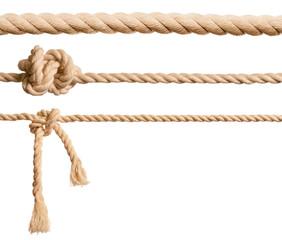 Ropes set isolated on white