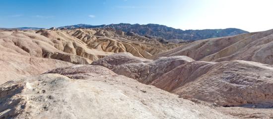 Rock formation at landscape, Zabriskie Point, Death Valley Natio