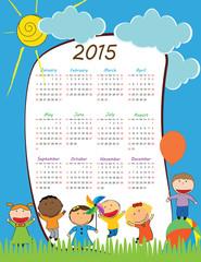 Kids calendar 2015
