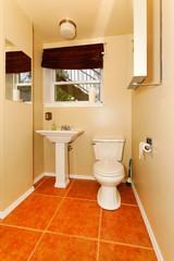 Bathroom interior with contast bright floor