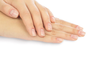 Aluminium Prints Manicure Beautiful female hands