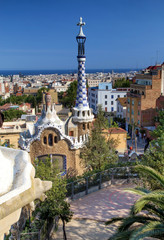 Park Guell in Barcelona (Catalunya, Spain)