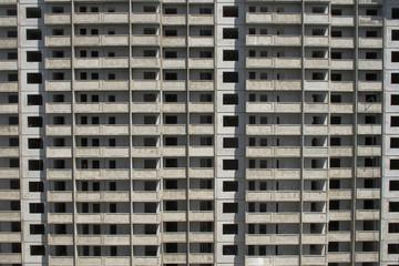Фасад строящегося многоэтажного дома