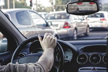 Fototapete - traffic jam