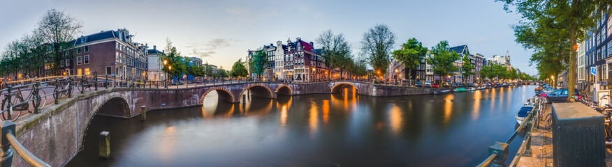 Canvas Prints Northern Europe Keizersgracht canal in Amsterdam, Netherlands.