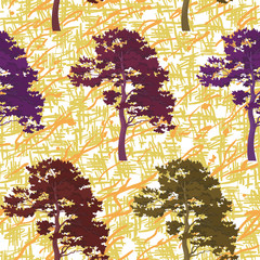 Seamless trees and abstract pattern