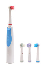 electrical toothbrush isolated on white background