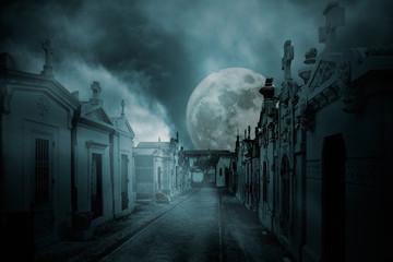Full moon cemetery