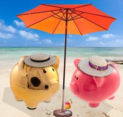 monsieur et madame tirelire en vacances