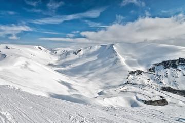 Ski resort Kirovsk, Murmansk region, Russia