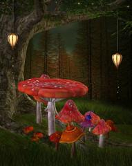 Wall Mural - Midsummer night's dream series - Queen of fairy place