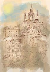 Архитектурный пейзаж, Киев