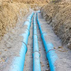 Baustelle für eine neue Wasserleitung