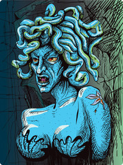 Gorgon - a female dreadful creature