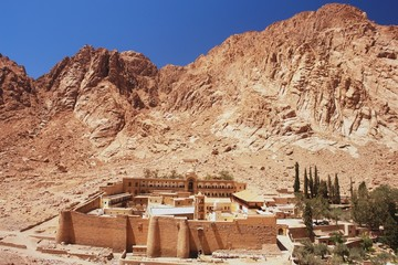 View of St. Catherine's Monastery and Mount Sinai, Egypt
