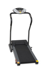 Treadmill isolated over white with clipping path.