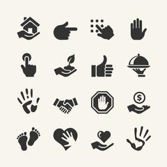 Web icon set - Hand