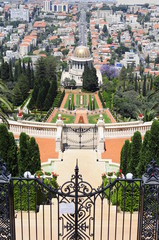 The Bahai Garden in Haifa, Israel