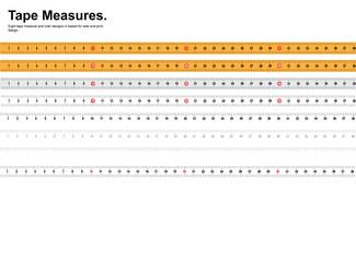 Tape Measure Vectors Set