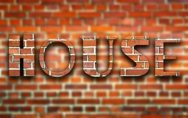 House made of bricks creative illustration