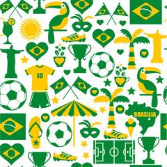 Brazil seamless pattern