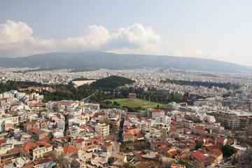 Athène, L'Olympiéion vu du Parthénon