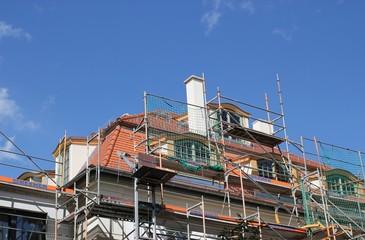 Baustelle Haus Dach