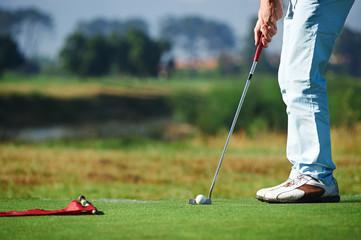 Poster Golf putting golf man