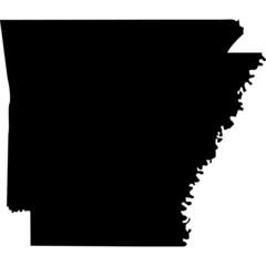High detailed vector map - Arkansas.